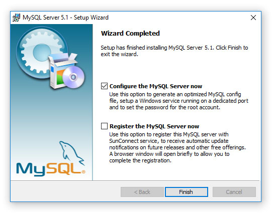 DiskSavvy - Disk Space Analyzer - Installing MySQL Database